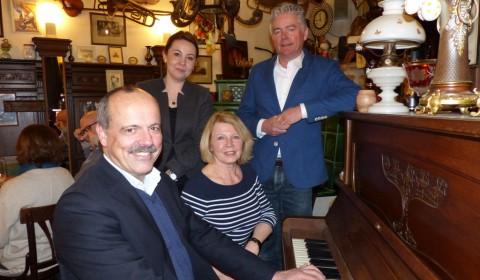 Der Vorstand mit [von links] Roland Seiter, Alexandra Leah, Jani Büsing und Jan-Michael Meinecke. Foto: (c) Gisela Brüning